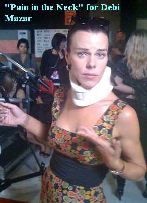 Neck Brace worn by Dwts Star Debi Mazar 09