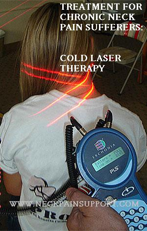 Cold Laser therapy can help neck pain