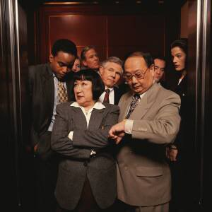 Next time you are in a crowded elevator with mirrors, check your neck posture