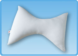 Bowtie cervical pillow for head and neck support
