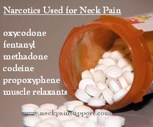 Medication for neck pain