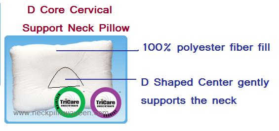 D core support neck pillow