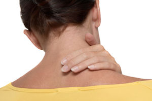 Neck pain can result when working for long hours in the office