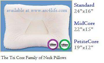 TriCore Pillow Sizes