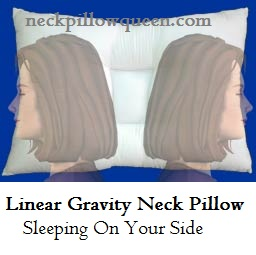 Linear gravity neck pillow sleeping on side