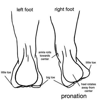 What does foot pronation look like