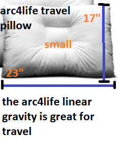 The arc4life linear gravity pillow small is great for travel