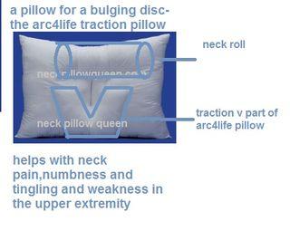Arc4life cervical traction neck pillow schematic diagram