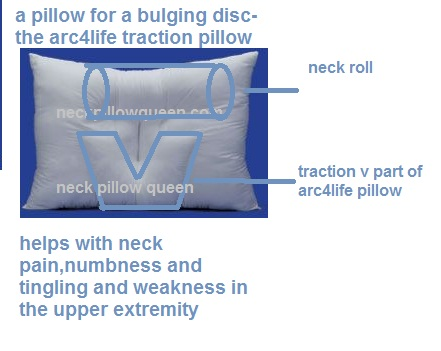 Arc4life cervical traction neck pillow schematic diagram