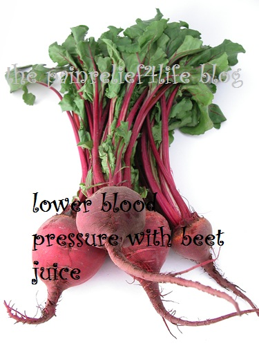 Beet juice lowers blood pressure in study