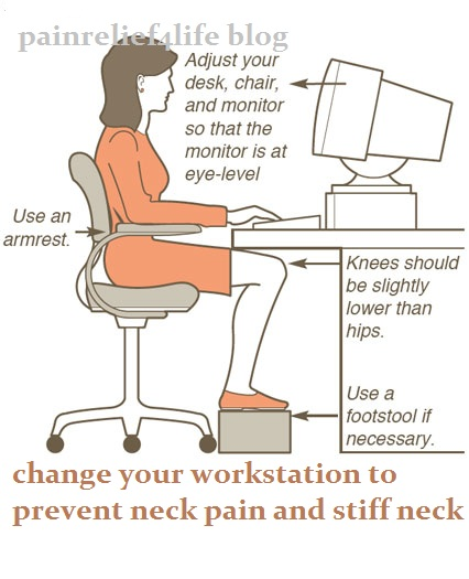 Change your workstation and neck posture for the better PainRelief 4 Life