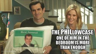 Modern family's phil dunphy doesn't forget his neck pillow when he travels