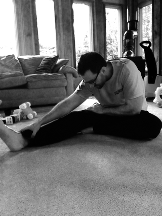 Doing a Simple Hamstring Stretch