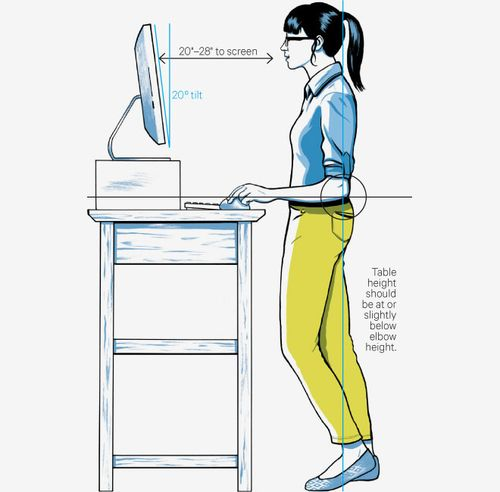 The standing desk- a key to health at work