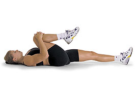 Simple knee to chest exercise
