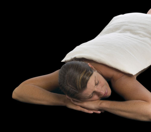 A moist heating pad that covers your neck, midback and low back