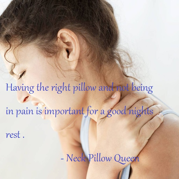 Sleeping well without pain with the right pillow is important 2