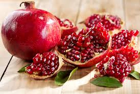 Pomegranate cut