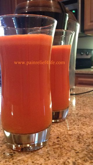PainRelief4life 15 carrots to one glass of juice