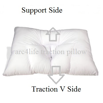Arc4life traction pillow support and traction side