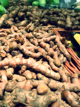 Raw turmeric can be juiced with and cooked with