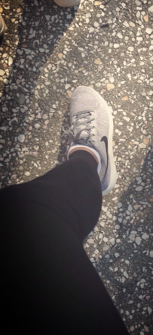 Walking with flyknit nike shoes