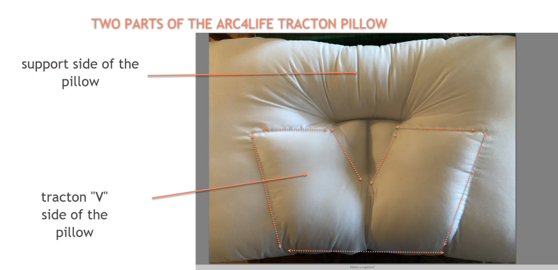 The two parts of the arc4life traction v pillow