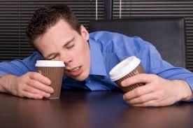 Sleep deprived guy