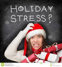 Holiday stress woman