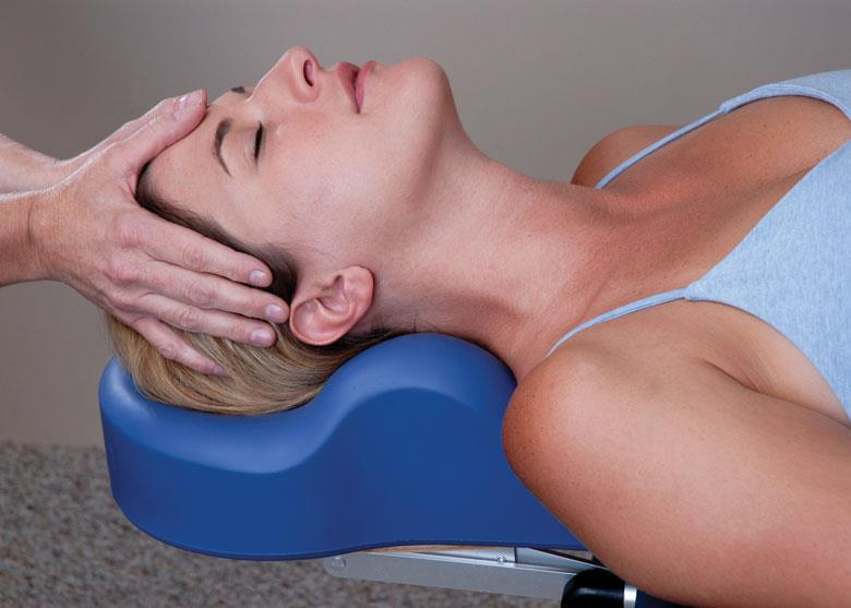 Omni cervical relief pillow being used by patient