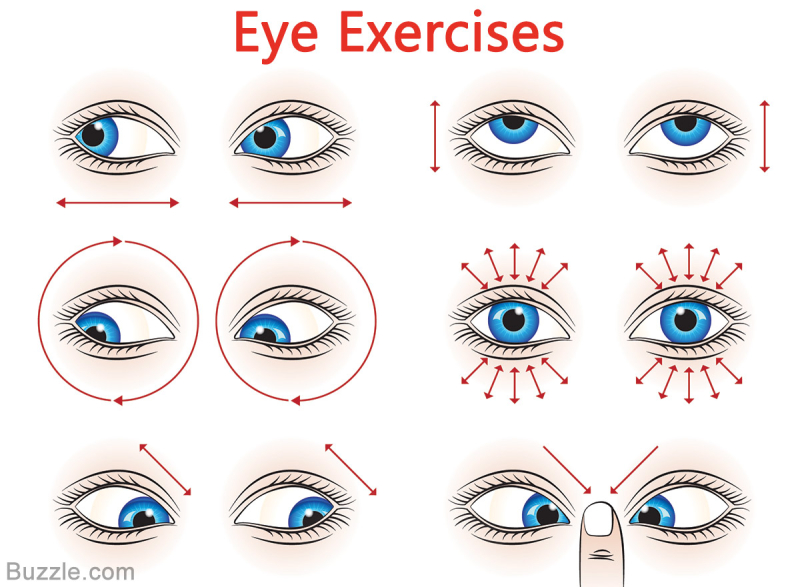 Eye exercises for healthy eyes
